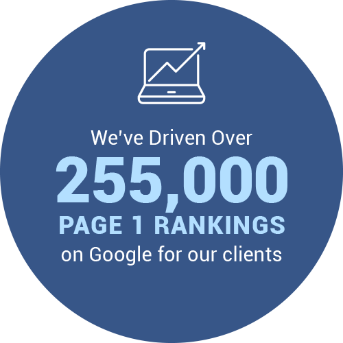 255000 Page 1 Rankings on Google for our clients